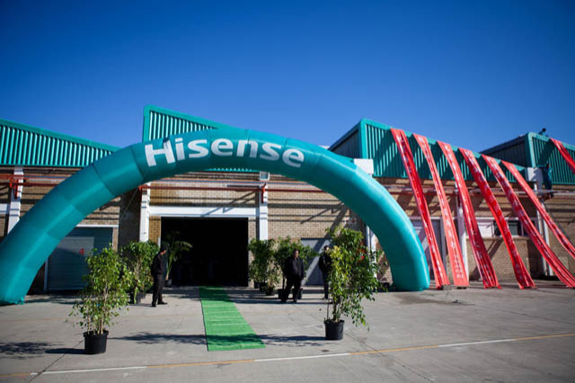 Hisense implements several sustainability initiatives locally