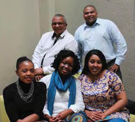 Faith Mkhacwa, PearlThusi ;Thembi Kodisang (front); Reuben Kadalie (Ops Mgr); Lee- Hendor Ruiters (back).