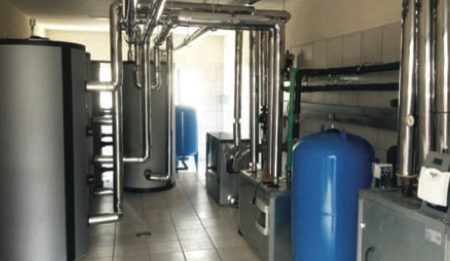 Figure 1 Plant room incorporating efficient technologies