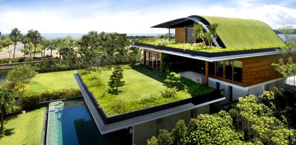 Modern Home That Features a Green Roof – Alive2green