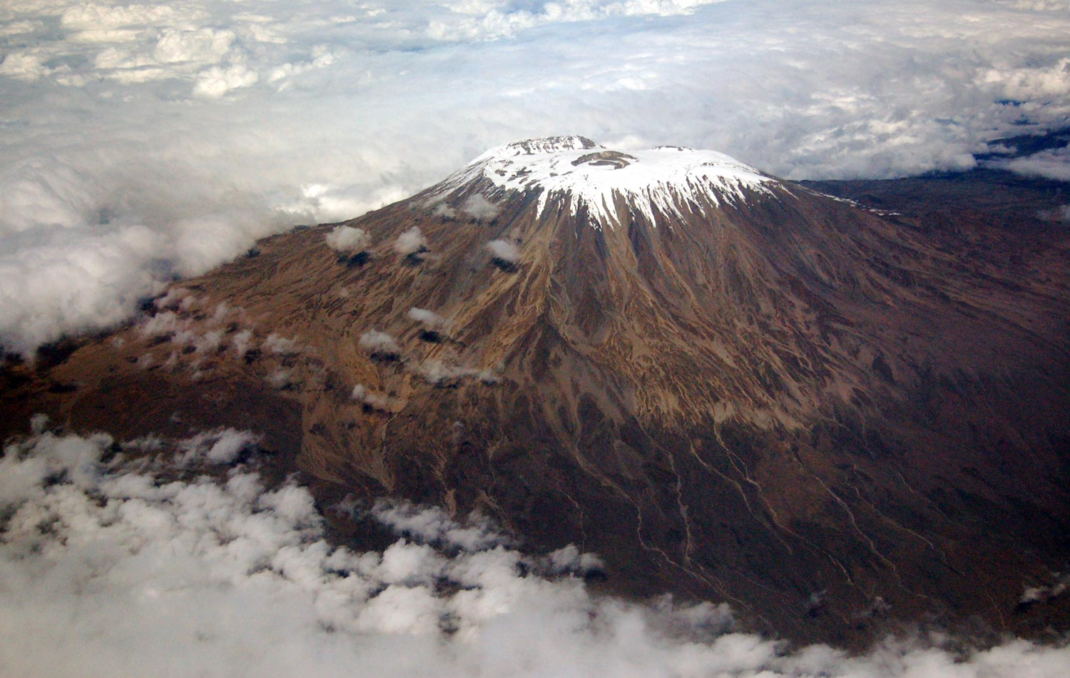 research findings showed that Kilimanjaro glaciers began shrinking towards the end of the 19th century