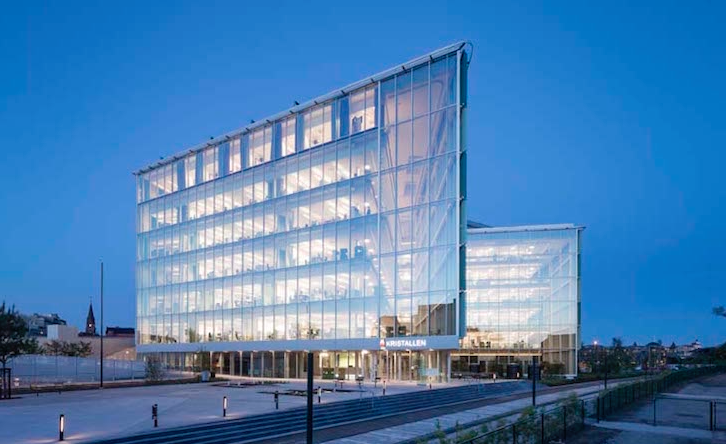 Christensen & Co Architects recently completed the first phase of Lund's City Hall, a building that when complete, will be the greenest City Hall in Sweden.